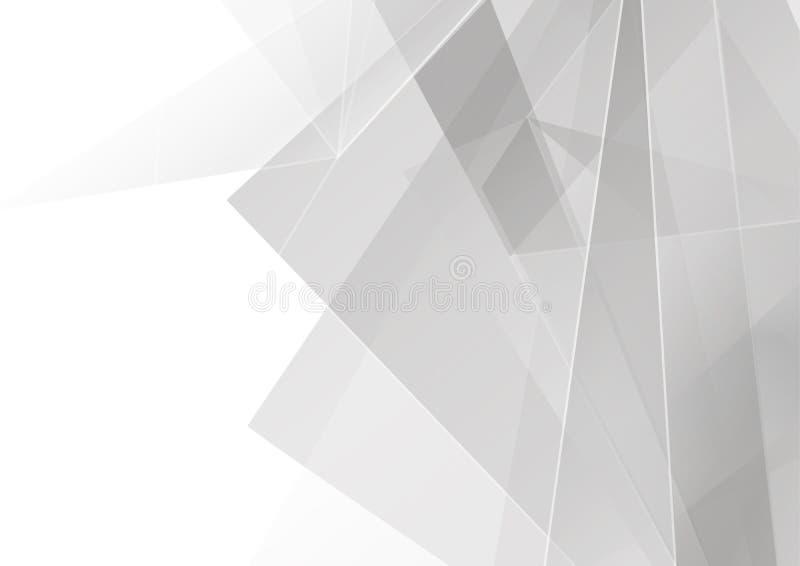 抽象白色和灰色颜色有多角形现代背景 Il 向量例证