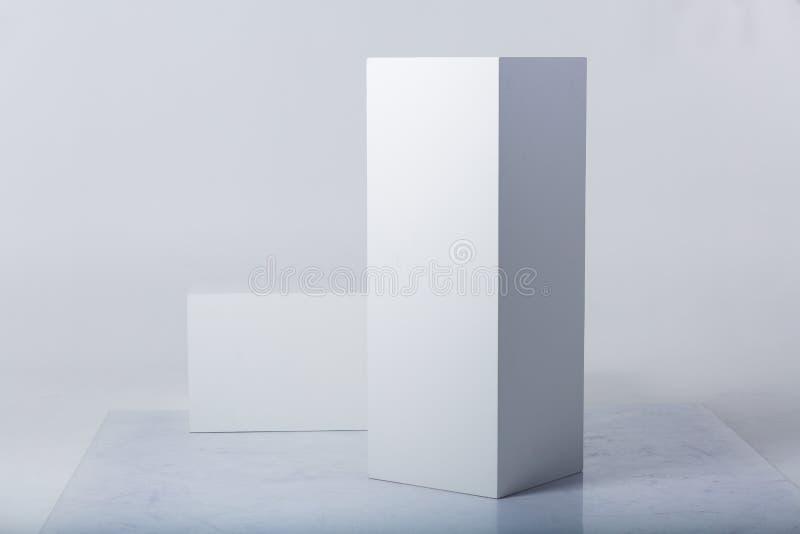 抽象白色形状 图库摄影