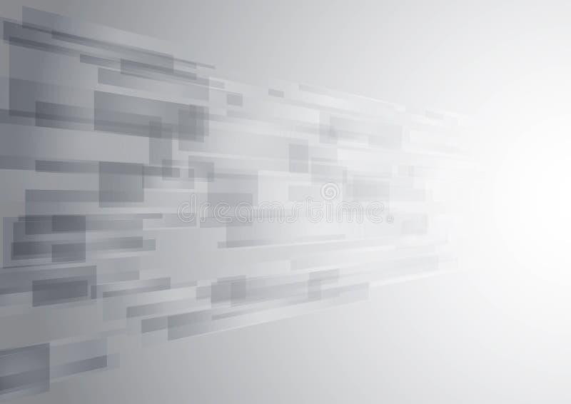 抽象白色技术新的未来背景 库存例证