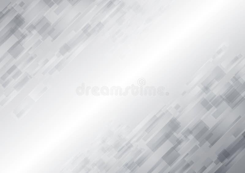 抽象白色技术新的未来背景 向量例证