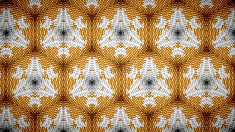 抽象白色橙色金子黄色颜色墙纸 库存图片