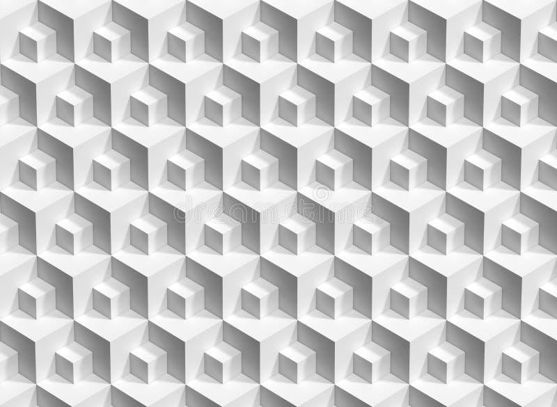 抽象白色求背景, 3d的立方回报 库存照片
