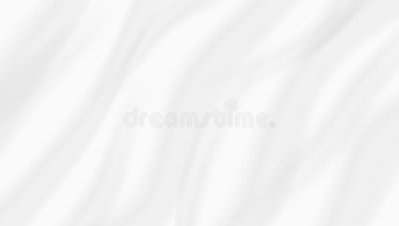 抽象白色背景波浪丝织物布料 向量例证