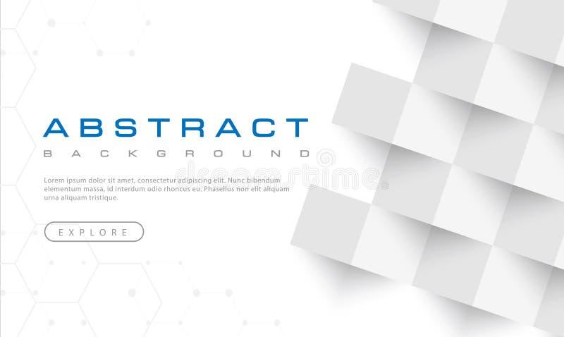 抽象白色背景纹理,白色构造,横幅背景,传染媒介例证 向量例证