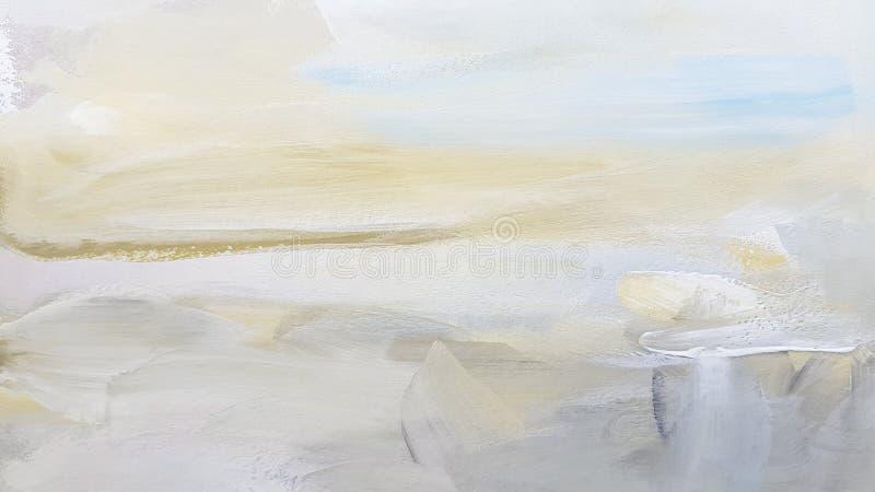 抽象白色艺术绘的背景 免版税库存照片