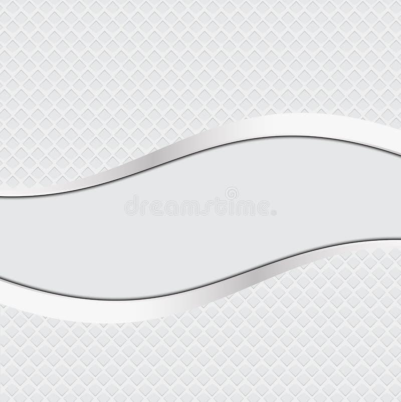 抽象白色金属背景钢纹理 向量例证