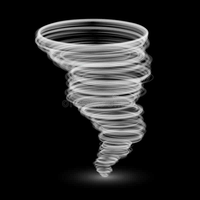 抽象白色龙卷风 库存例证