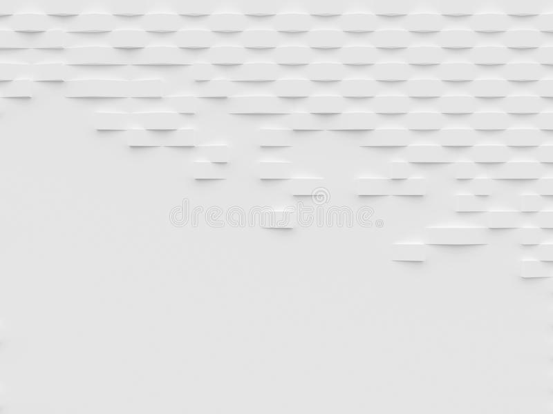 抽象白色3D墙纸和背景 皇族释放例证