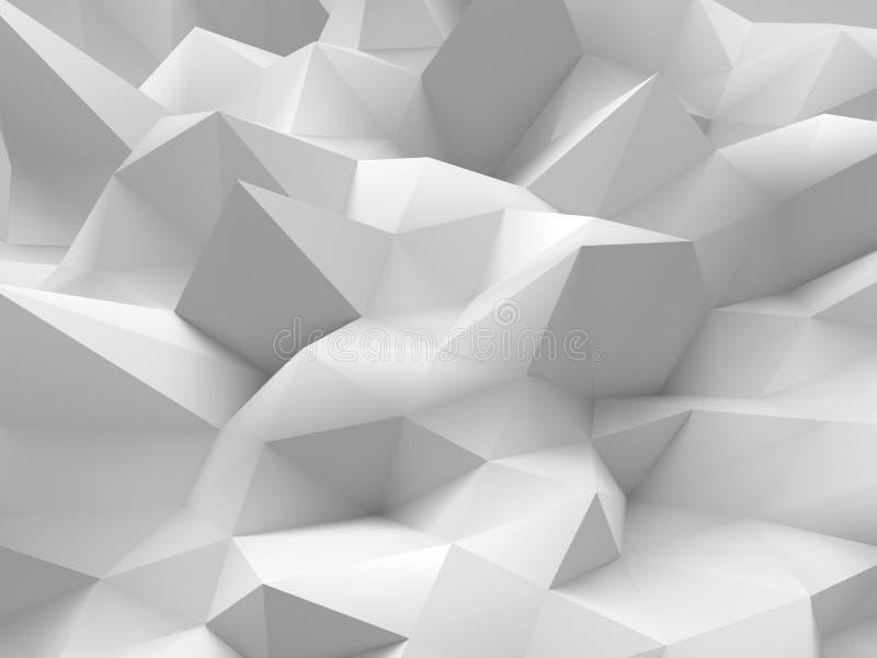 抽象白色3d背景 库存例证