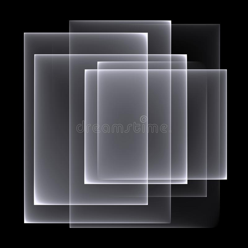 抽象白黑背景样式 在黑背景的明亮的空白线路 库存例证