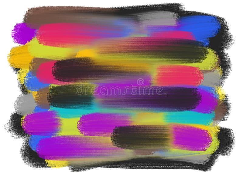 抽象的彩色笔画 飞溅纹理 皇族释放例证