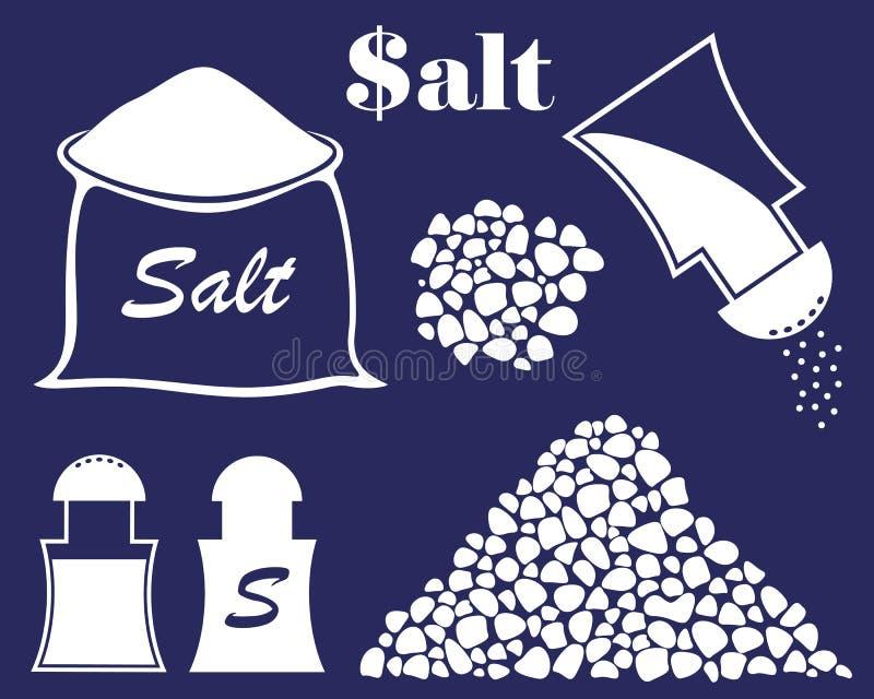 抽象盐 向量例证