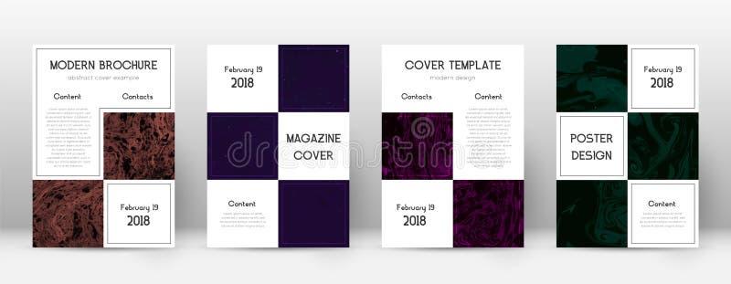 抽象盖子 壮观的设计模板 Suminagashi大理石企业海报 壮观时髦 向量例证