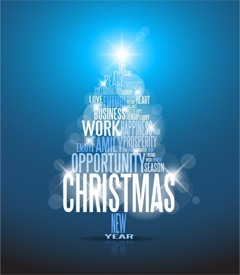 抽象看板卡圣诞节 库存例证