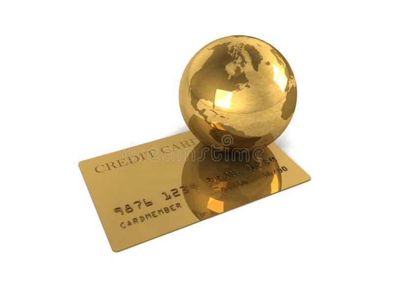 抽象看板卡赊帐金国际 库存例证