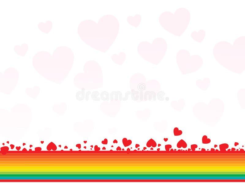 抽象看板卡重点彩虹华伦泰 库存例证