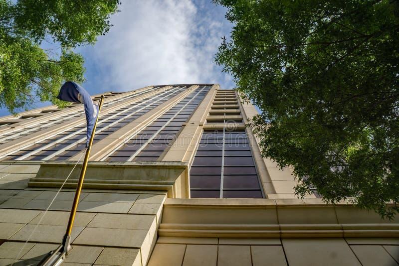 抽象看法富国银行集团塔- 2 图库摄影