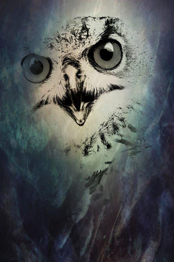 抽象真正的猫头鹰 向量例证