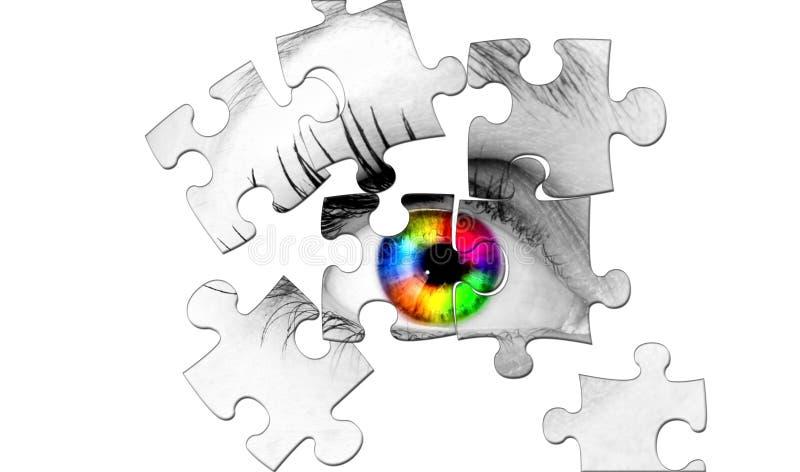抽象眼睛人 库存图片