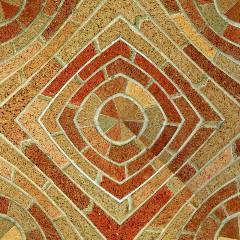 抽象砖模式无缝的瓦片 免版税库存图片
