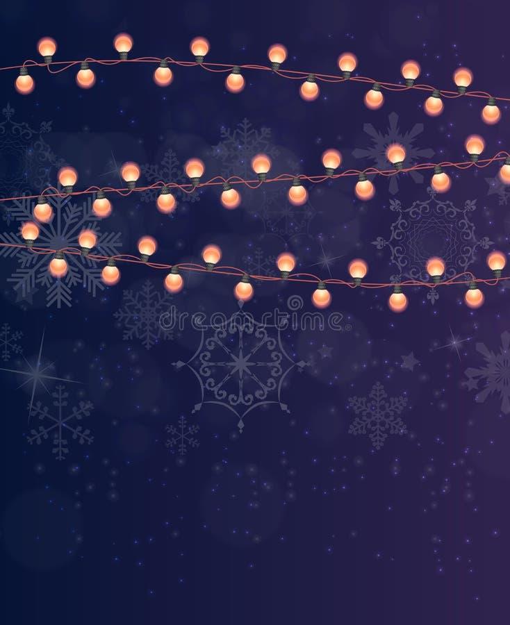 抽象秀丽圣诞快乐和与Mul的新年背景 皇族释放例证