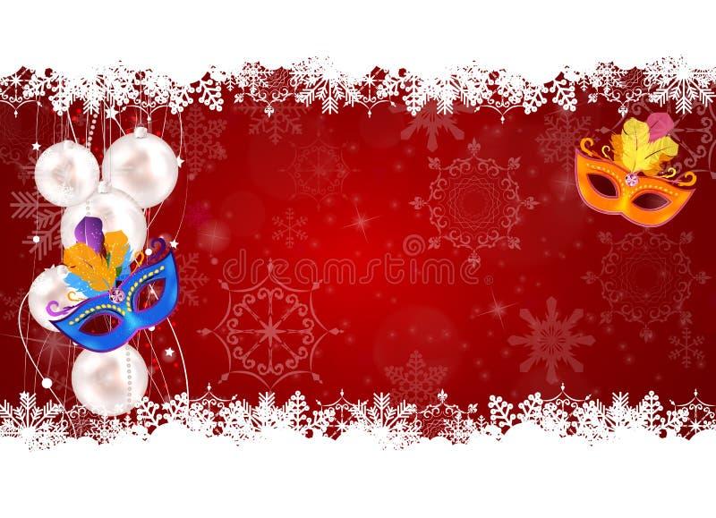 抽象秀丽圣诞快乐和新年晚会背景wi 皇族释放例证