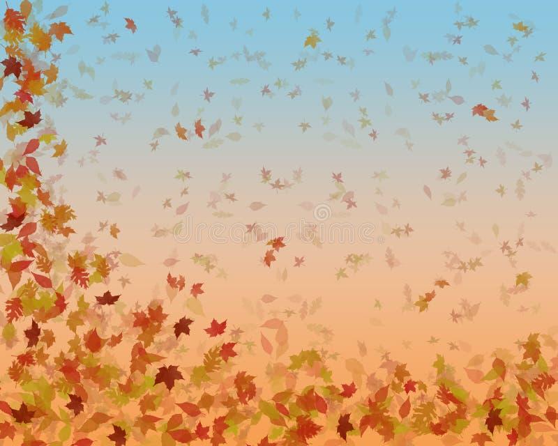 抽象秋天秋天叶子 向量例证