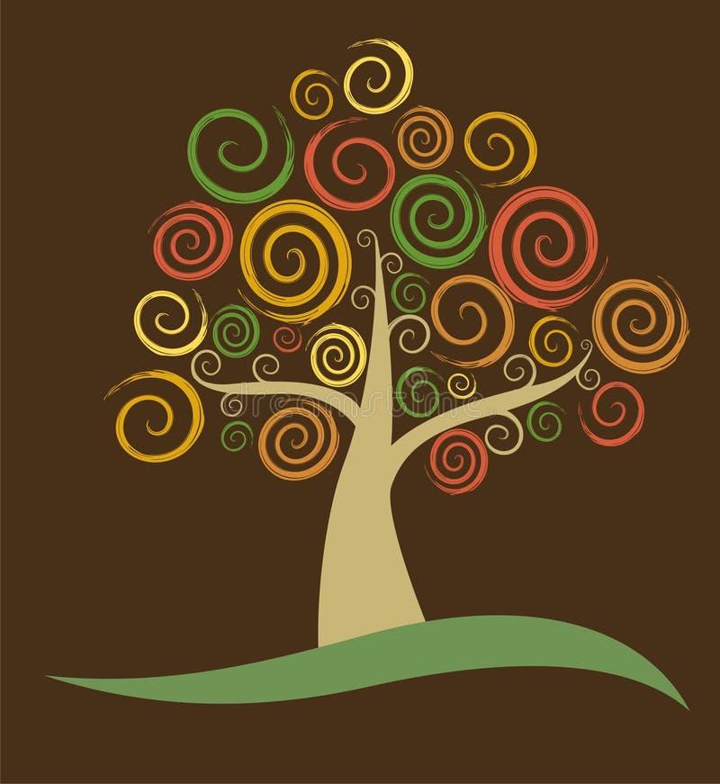 抽象秋天结构树 库存例证