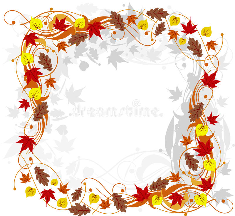 抽象秋天背景花卉向量 向量例证