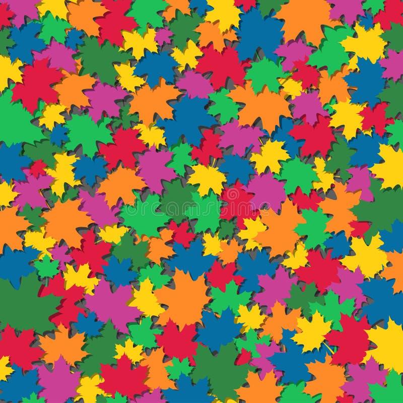 抽象秋天背景 向量例证