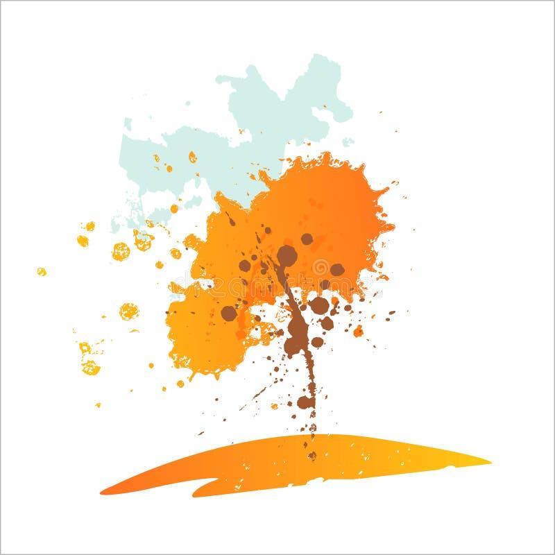 抽象秋天结构树 也corel凹道例证向量图片