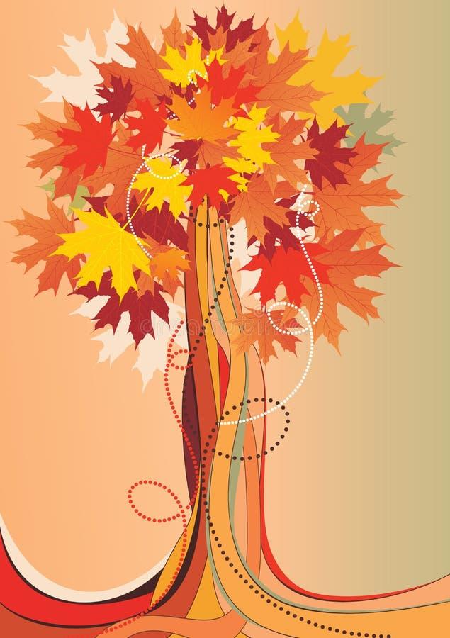 抽象秋季结构树 库存例证