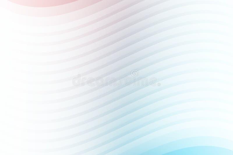 抽象空白线路分层堆积波浪背景和纹理 皇族释放例证