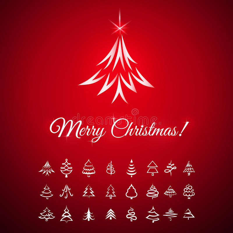 抽象空白背景圣诞节黑暗的装饰设计模式红色的星形 向量例证