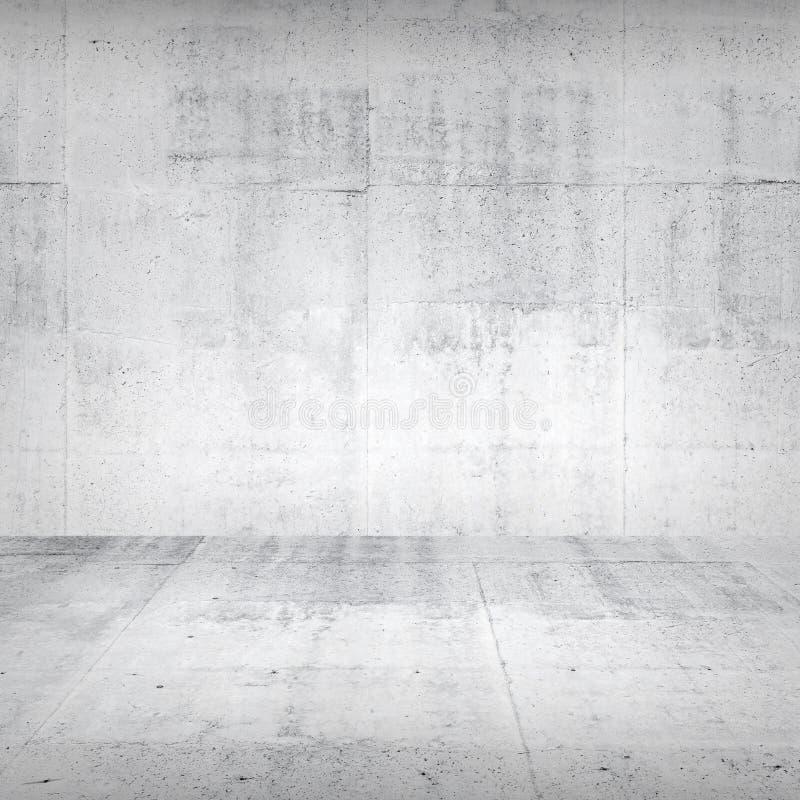 抽象空的白色具体内部 库存图片