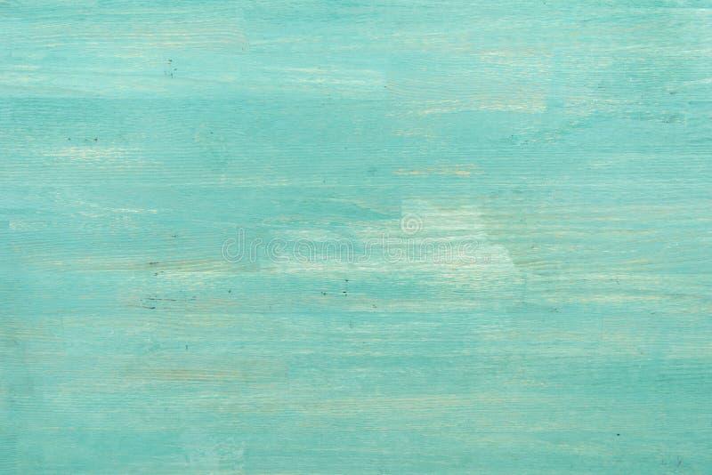 抽象空的绿松石木织地不很细背景 免版税库存照片