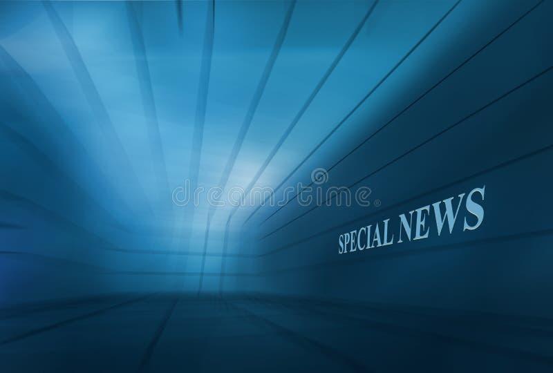 抽象空的3D空间BlueTheme Speical新闻背景Conce 免版税库存照片