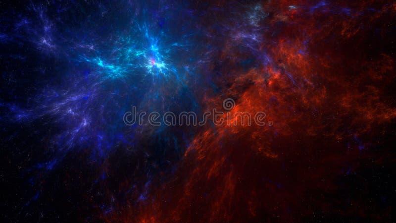 抽象空间背景星云 皇族释放例证