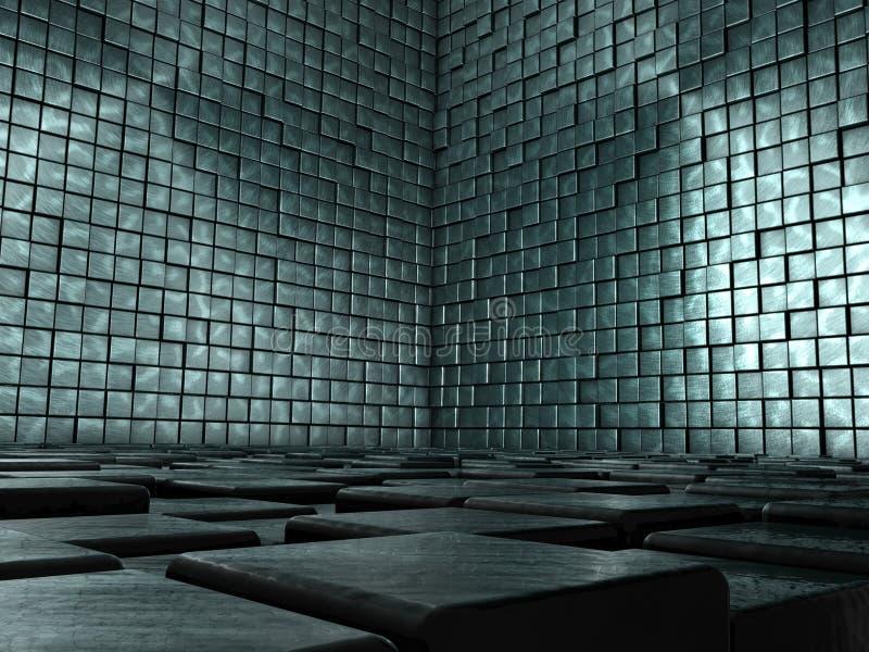 抽象空间铺磁砖了 库存例证