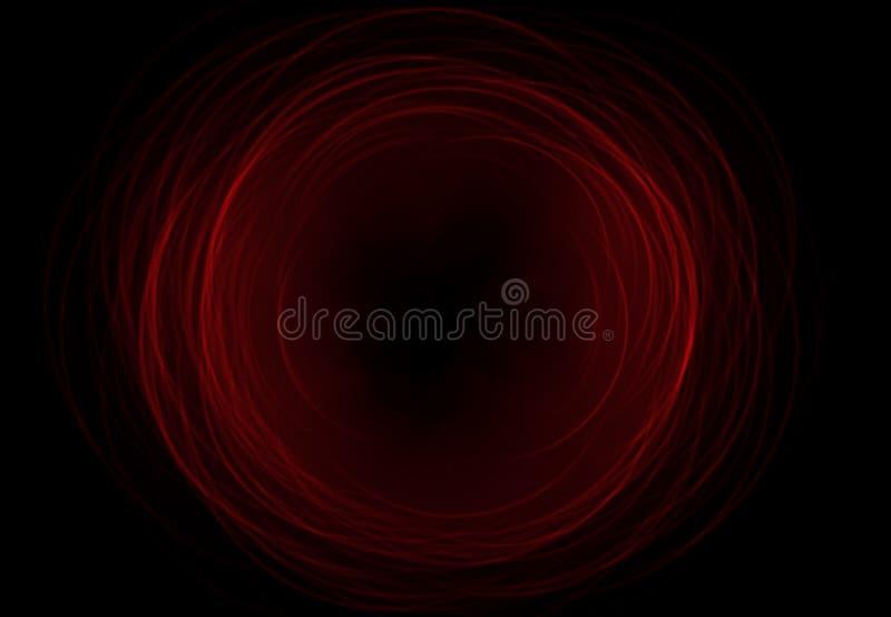 抽象空间背景在黑背景(超级高分辨率)点燃 皇族释放例证