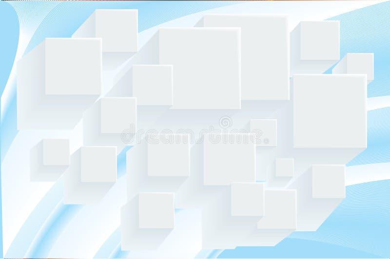 抽象立方体背景 向量例证