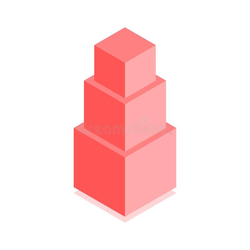 抽象立方体象 盖子的等量例证在平的3D样式设计 传染媒介几何商标 库存例证
