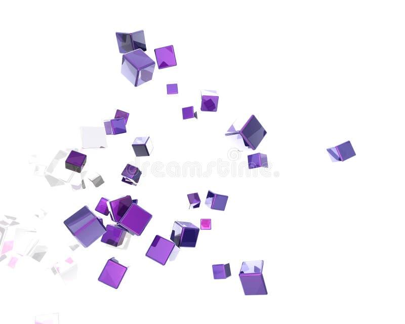 抽象立方体 向量例证