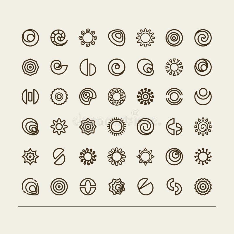 抽象符号 向量例证