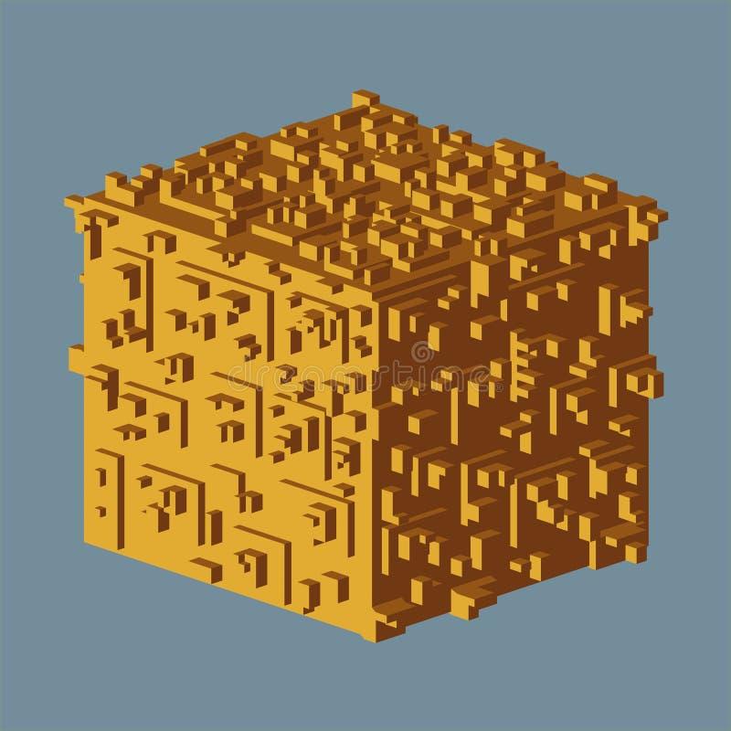 抽象等量立方体商标 也corel凹道例证向量 被隔绝的象 设计要素例证图象向量 皇族释放例证