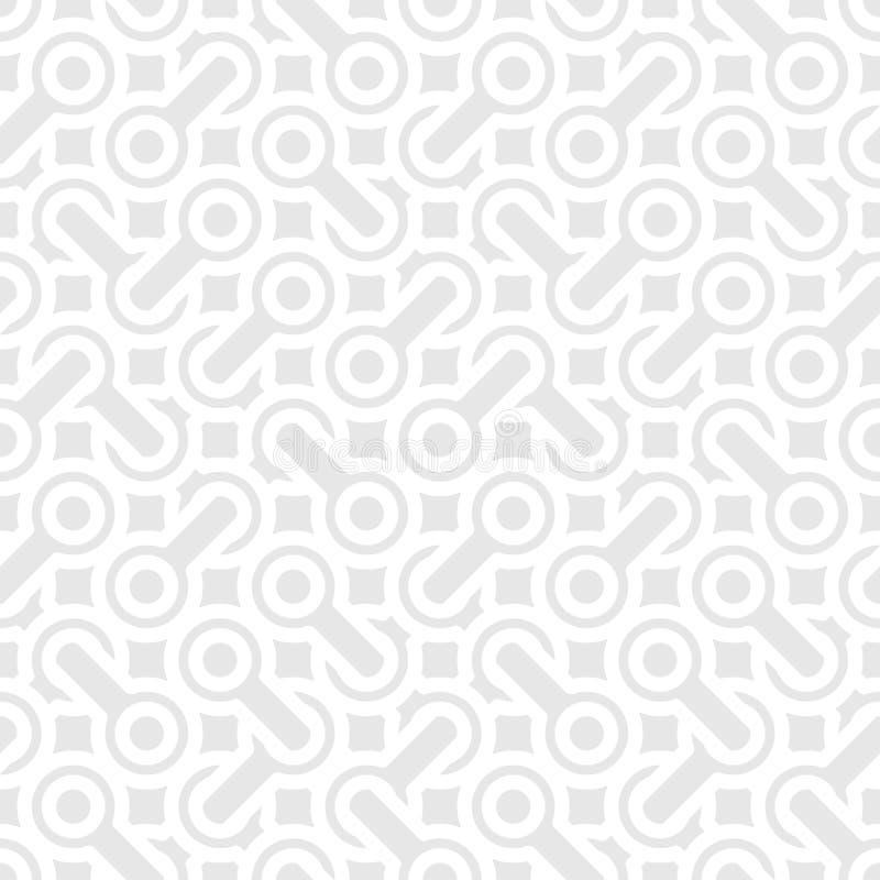 抽象简单的几何传染媒介样式-交错的形状  皇族释放例证