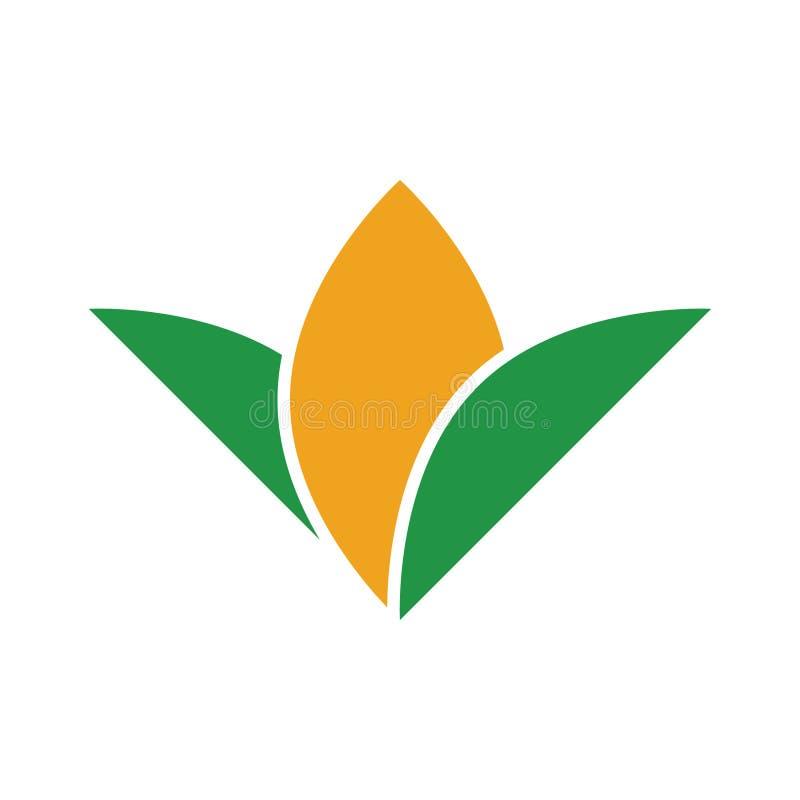 抽象简单的玉米商标标志 向量例证