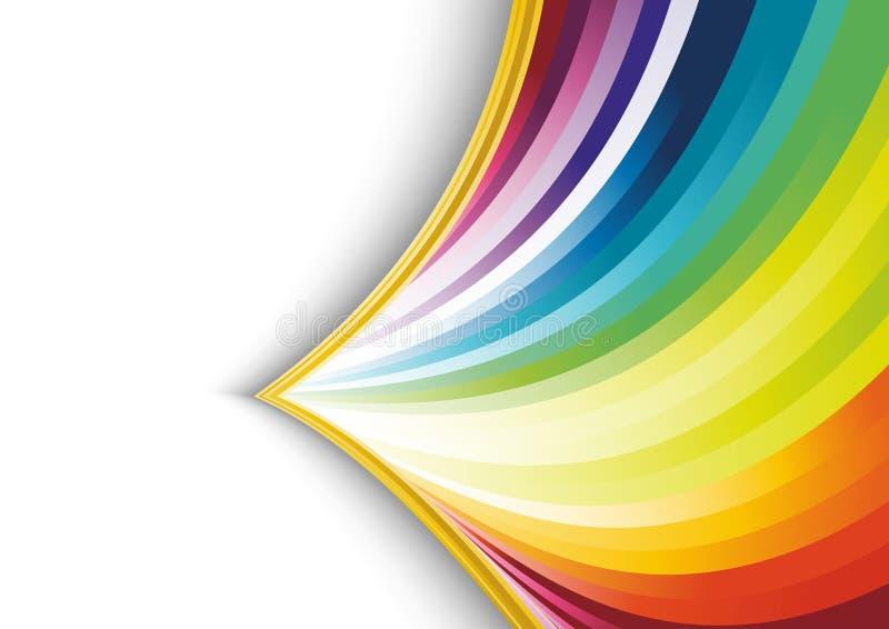 抽象箭头横幅彩虹 皇族释放例证
