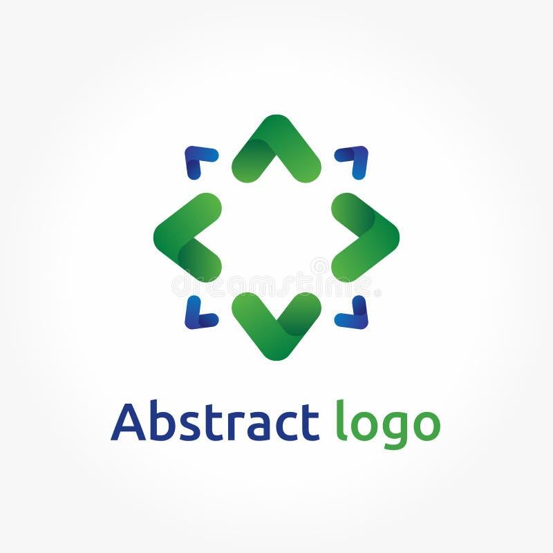 抽象箭头,传染媒介商标模板,方向象设计 向量例证