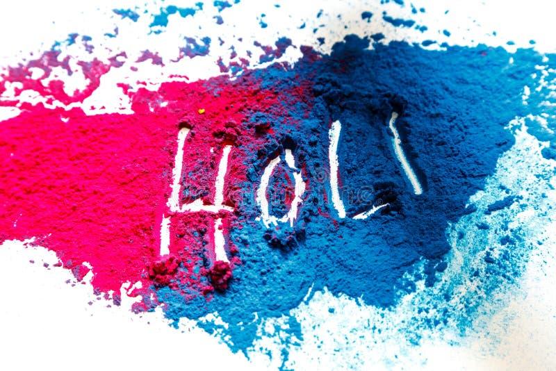 抽象粉末splatted背景 在白色背景的五颜六色的粉末爆炸 色的云彩 五颜六色的尘土爆炸 油漆 免版税图库摄影